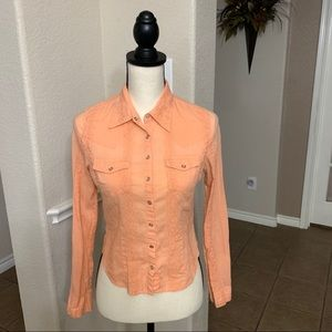 Vintage Guess peach long sleeve button down SP